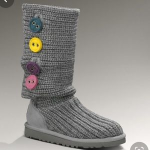 UGG Grey Classic Cardy Boot size 6 New Without Box